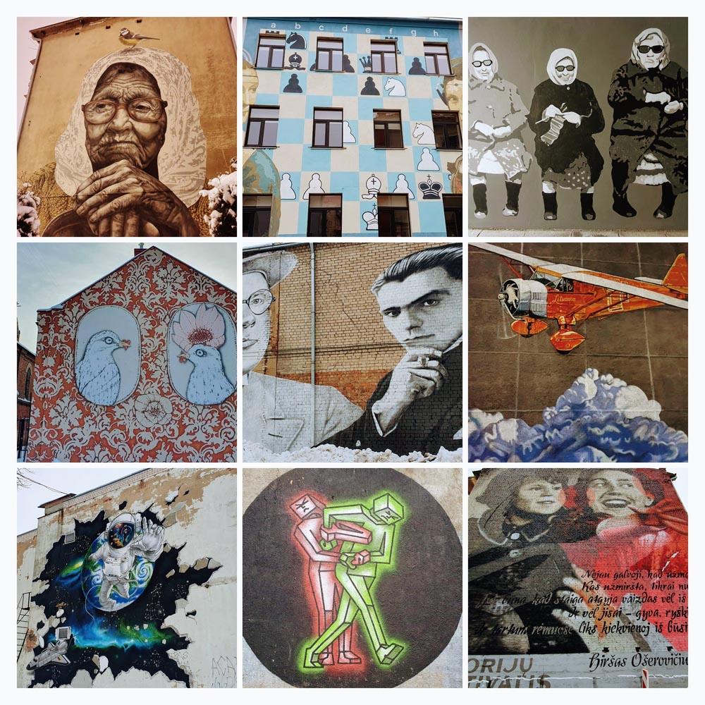 Straßenkunst in Kaunas
